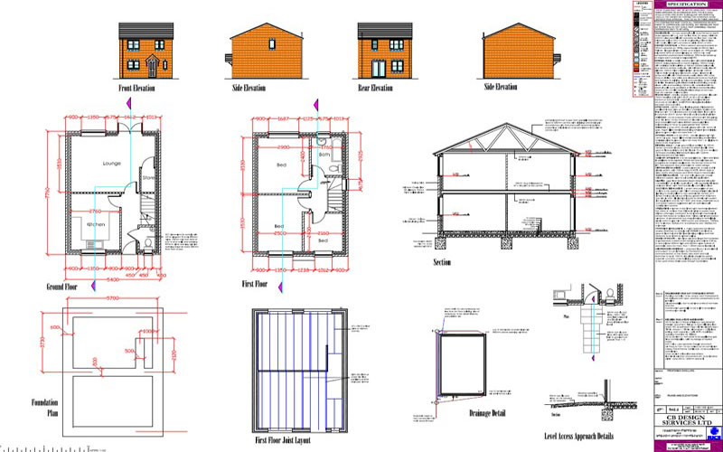 Detached house planning and building regulation approvals obtained for